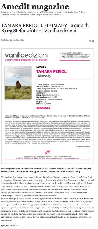 Tamara Ferioli – Amedit